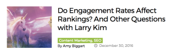 engagement rates larry kim amy biggart